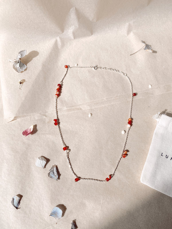 Crystal Cure Necklace 'Spark Energy' - Carnelian