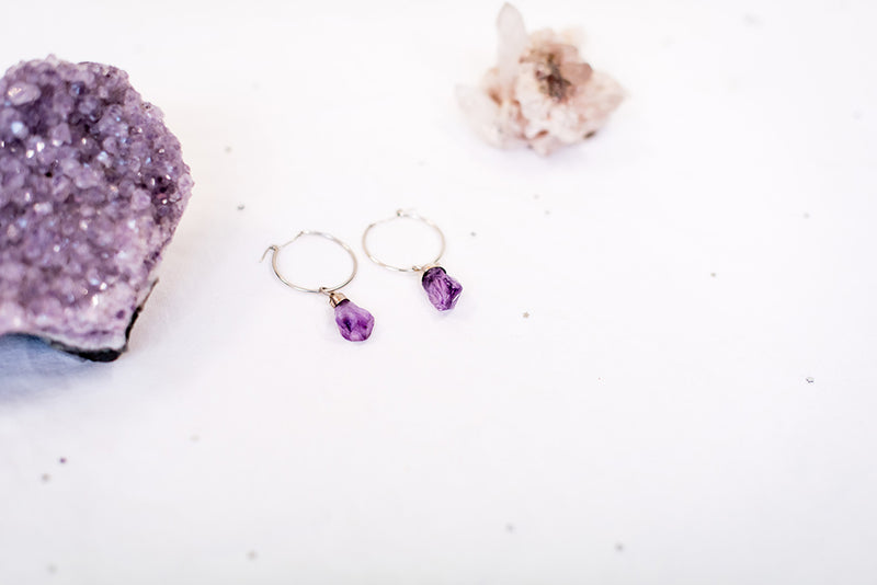 The Amethyst Hoops
