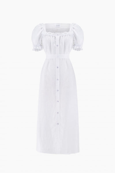 SLEEPER Maxi Brigitte Dress - White
