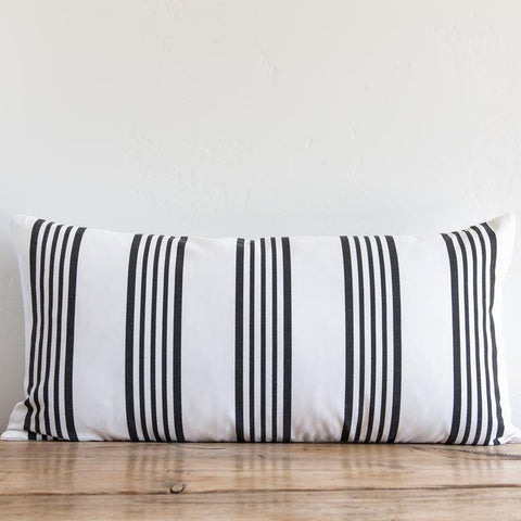 Sugar Feather - Outdoor Runway Stripe Pillow