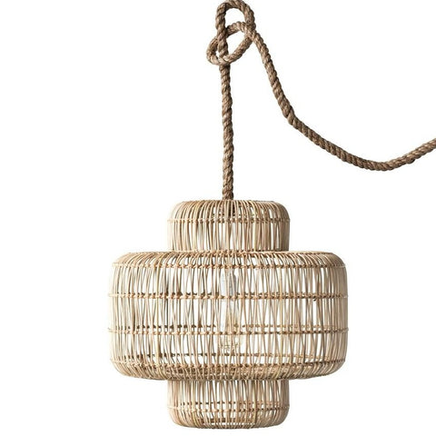 Round Wicker Pendant Lamp
