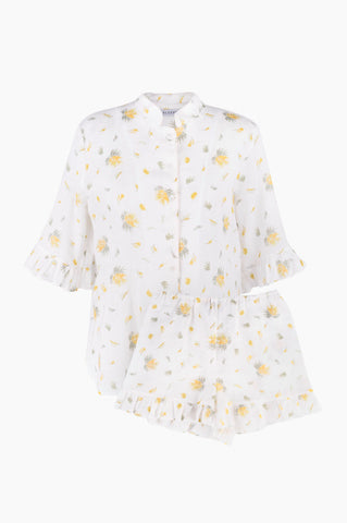 SLEEPER Linen Lounge Suit - Mimosa Floral
