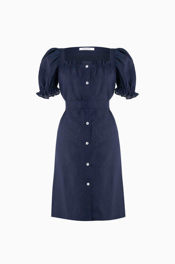 SLEEPER Mini Brigitte Dress - Navy
