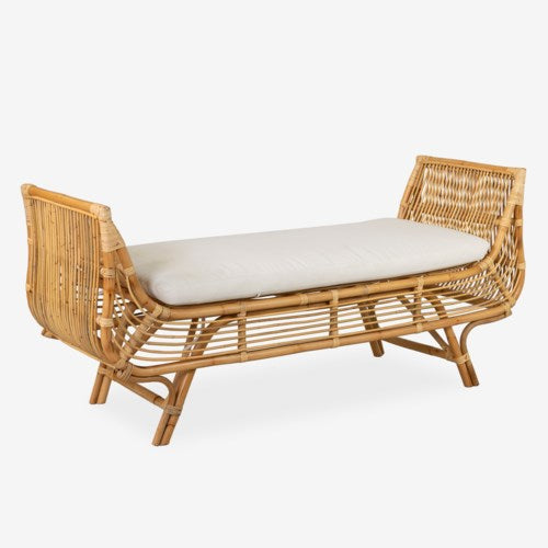 JE Rattan Lounge Bench