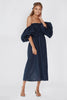 SLEEPER Atlanta Dress - Navy