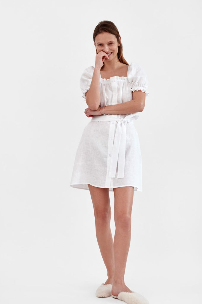SLEEPER Mini Brigitte Dress - White