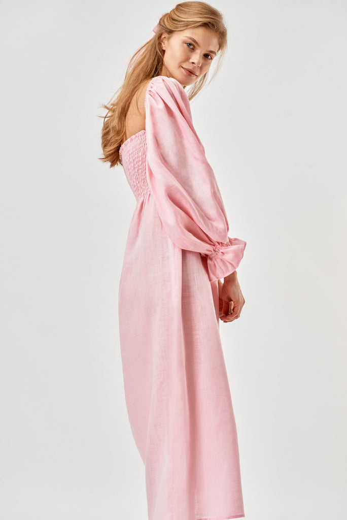 SLEEPER Atlanta Dress - Pink