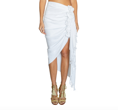 Just Bee Queen Tulum Skirt White