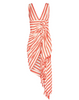 Just Bee Queen Tulum Dress Orange Stripe