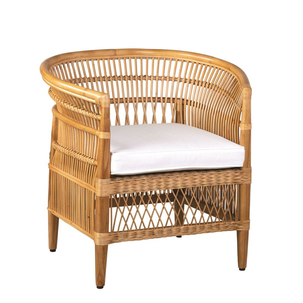 JE Rattan Wood Arm Chair