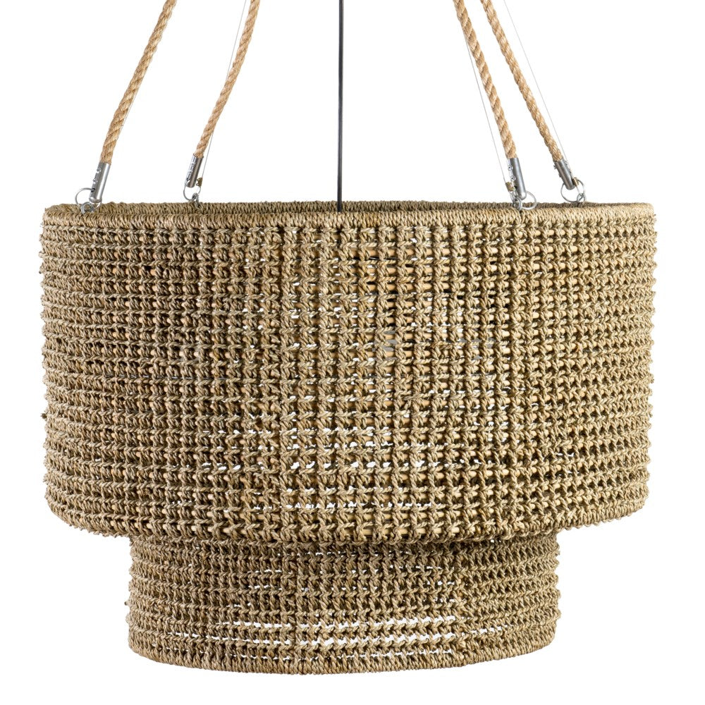 JE Natural Woven Rope Chandelier