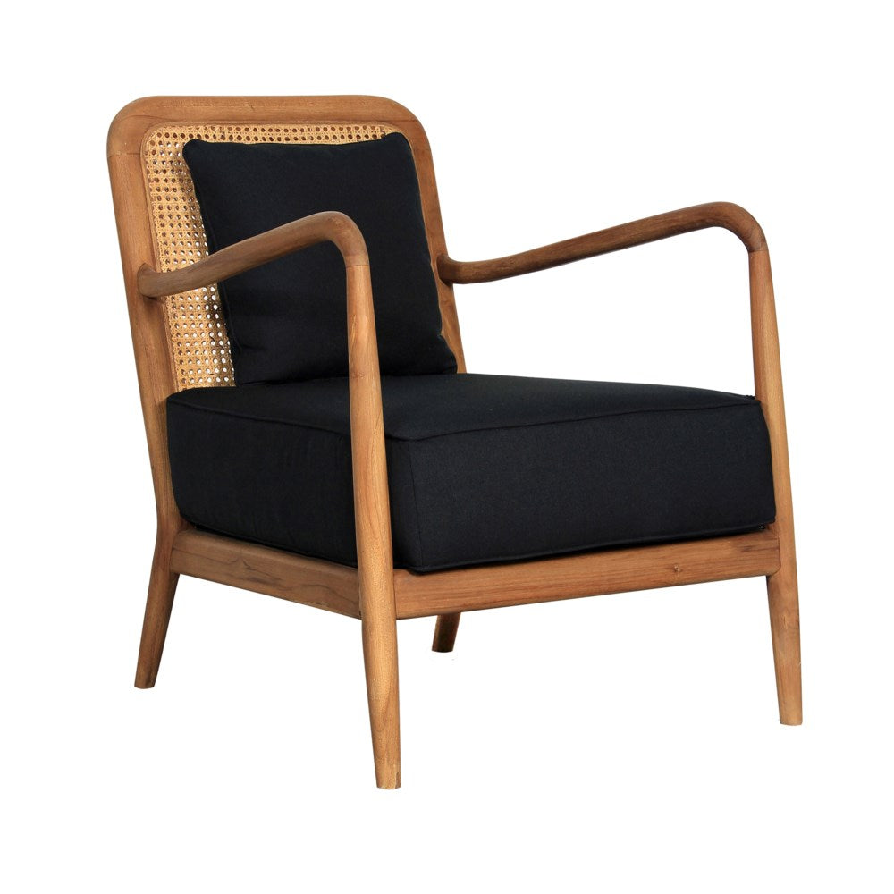 JE Teakwood Rattan Arm Chair