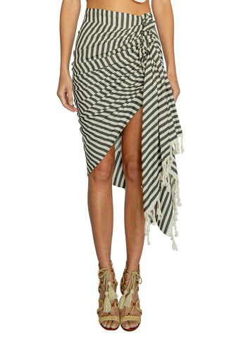 Just Bee Queen Tulum Skirt Black Stripe