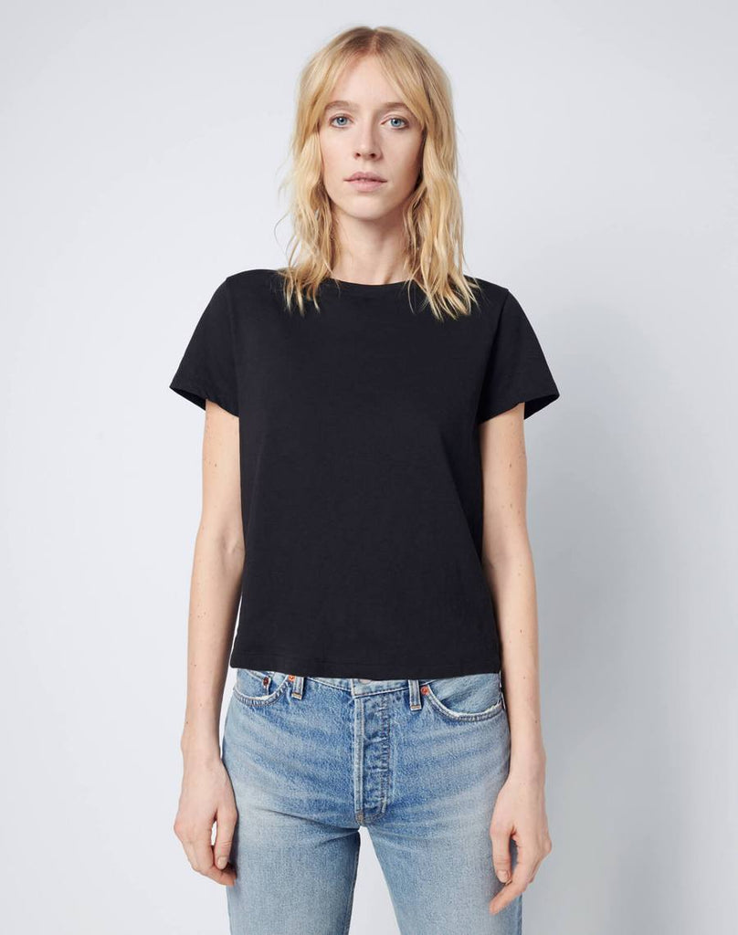 RE/DONE Modern Cotton Classic Tee Black