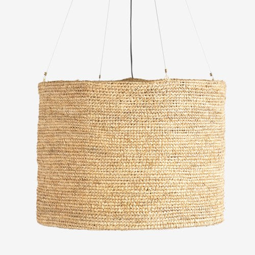 JE Raffia Cream Hanging Lamp