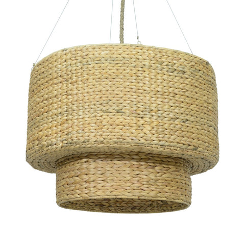 JE Double Drum Chandelier Natural