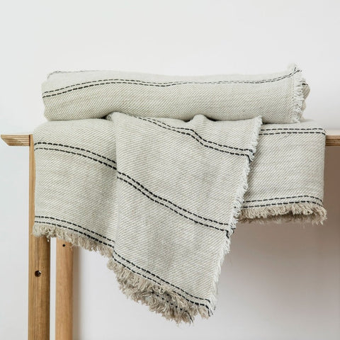 Mira Linen Throw - Ana