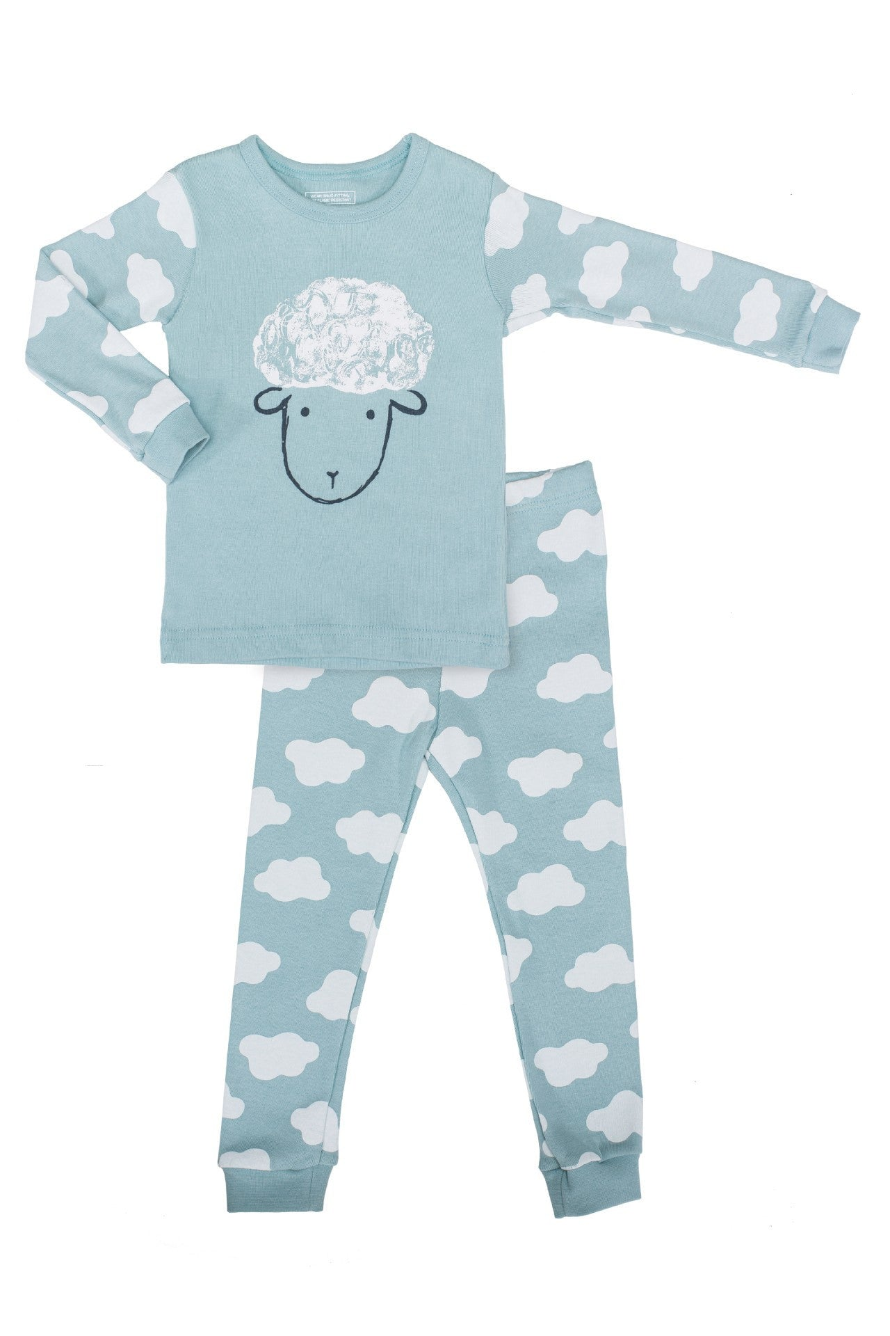 20s Cotton Count - Medium Warmth Pajamas - Counting Sheep (Blue)