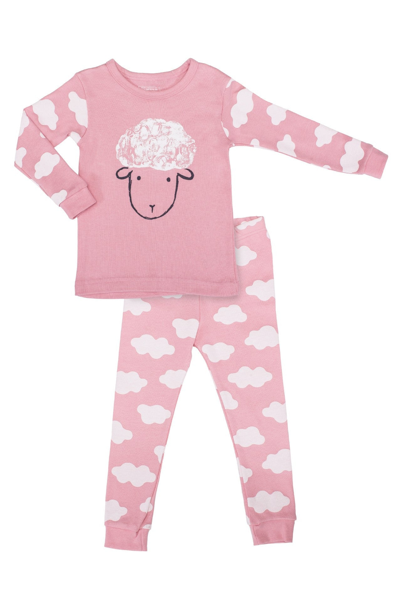 20s Cotton Count - Medium Warmth Pajamas - Counting Sheep (Pink)