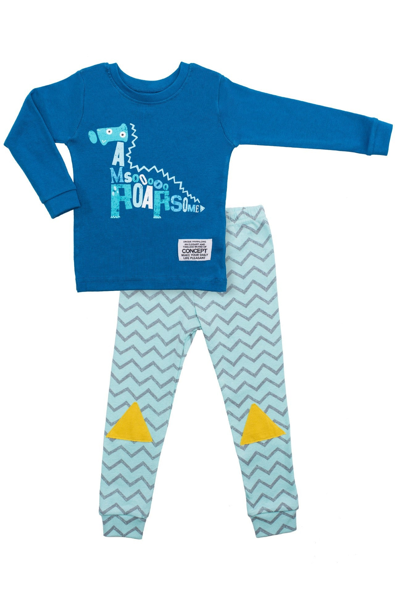 30s Cotton Count - Lightest Pajamas - Dino Boy
