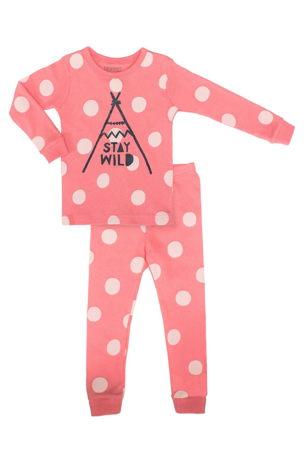 30s Cotton Count - Lightest Pajamas - Stay Wild Child (Coral)