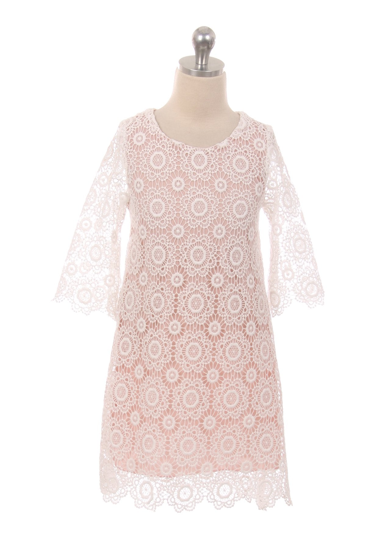 Lace Shift Dress w/ Sleeves