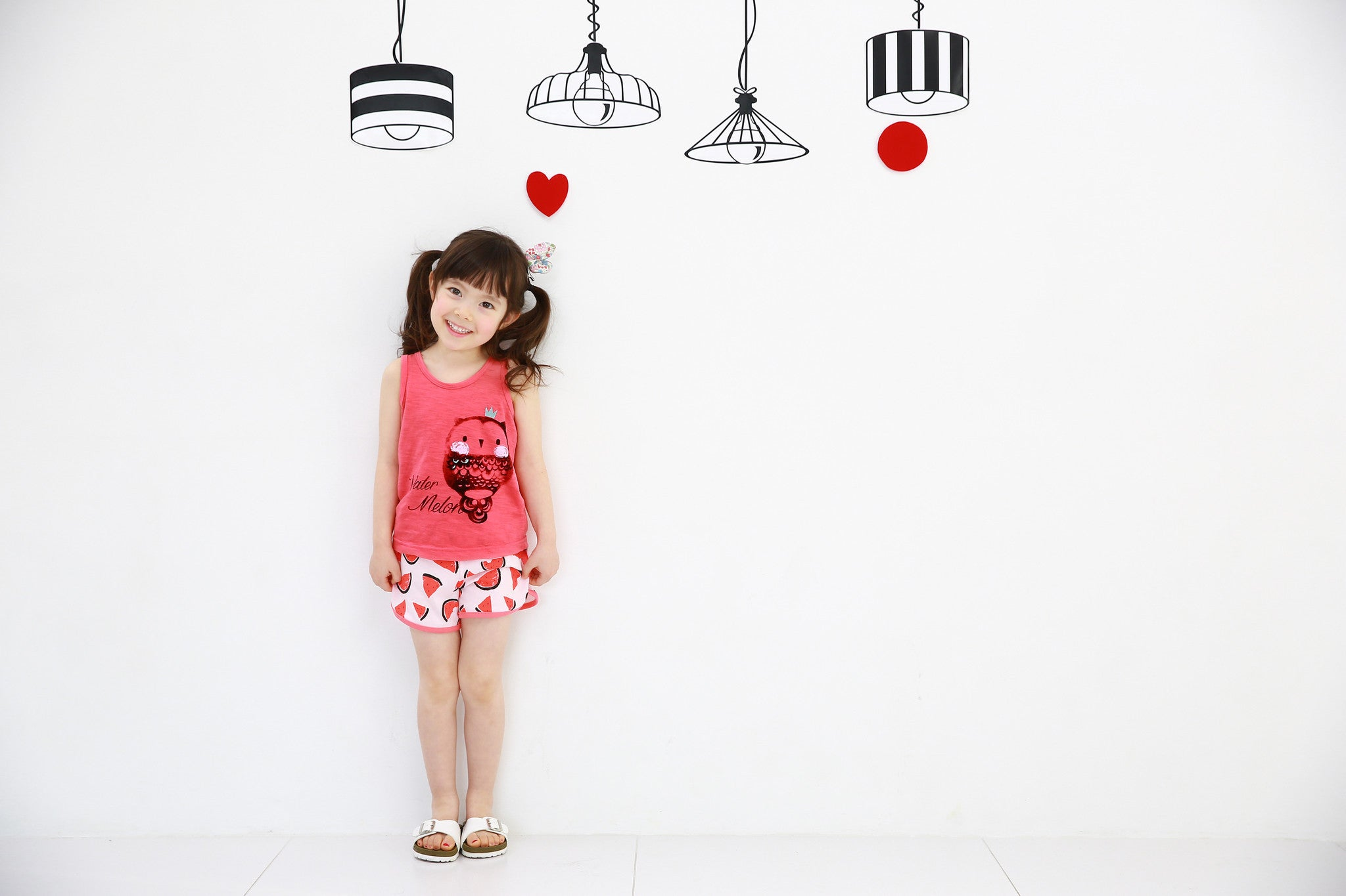 Easy Wear - Sleeveless Sets - Watermelon Princess Owl