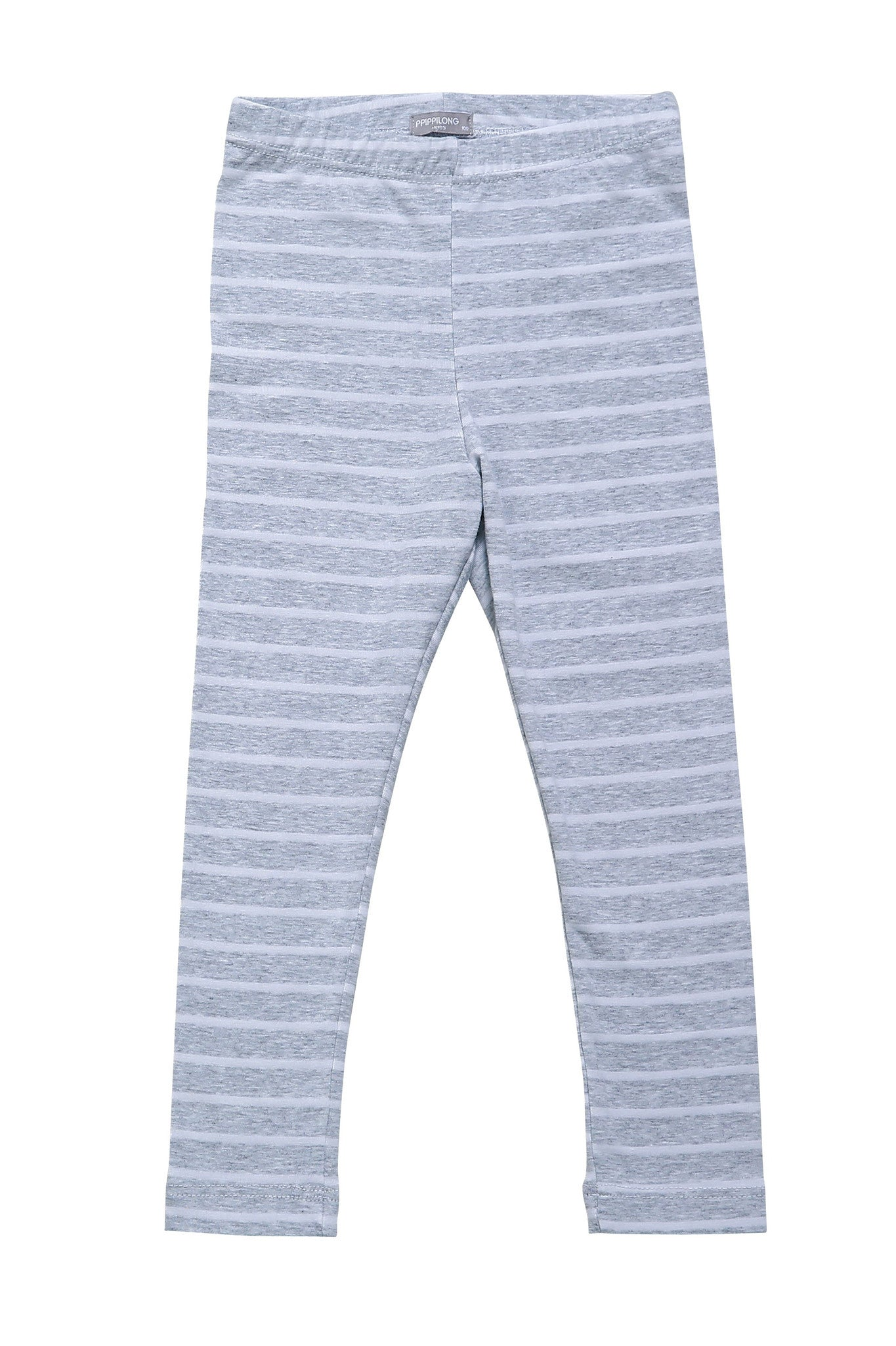 Leggings - Stripy Grey And White Leggings