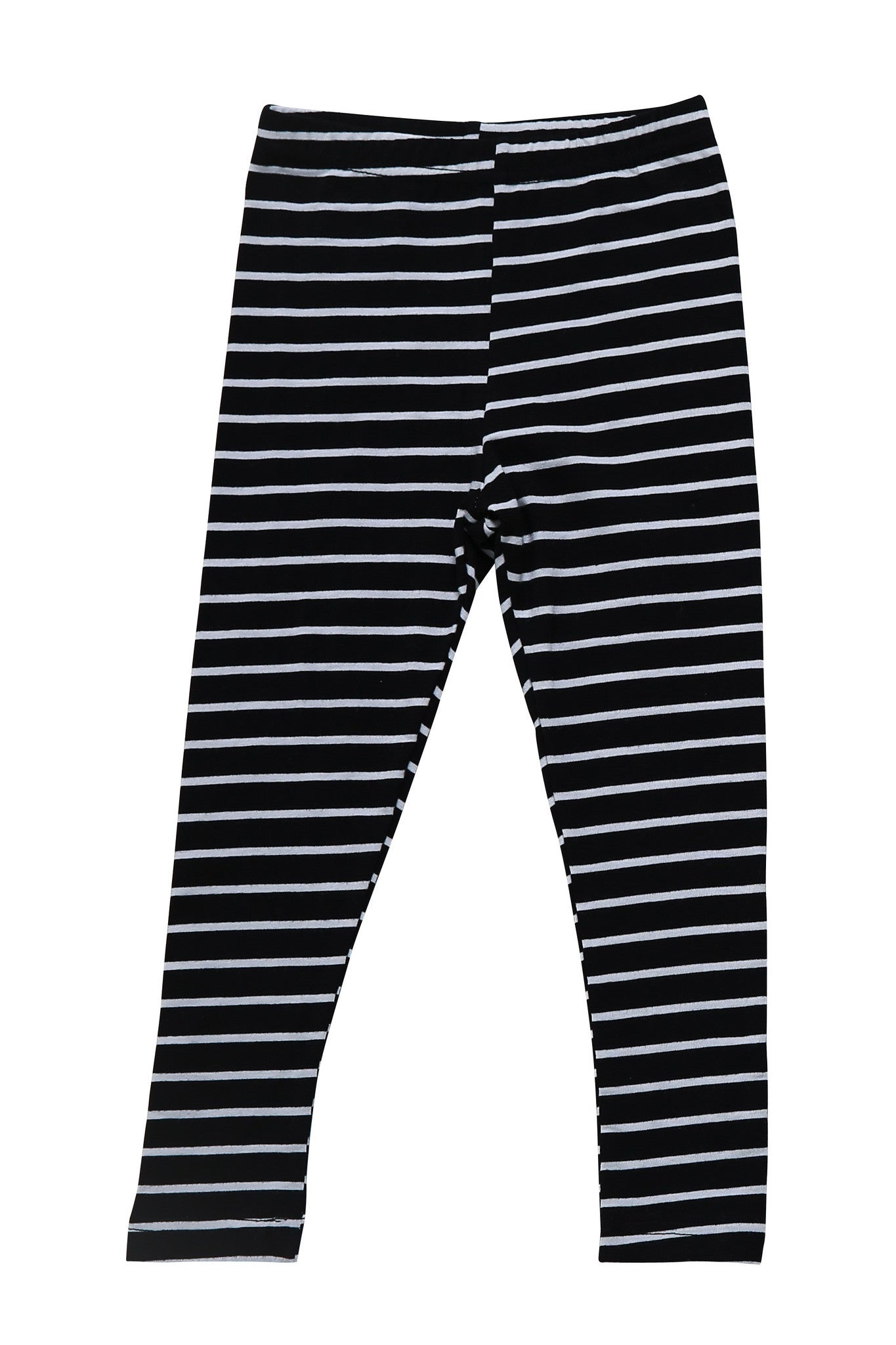 Leggings - Stripy White And Black Leggings