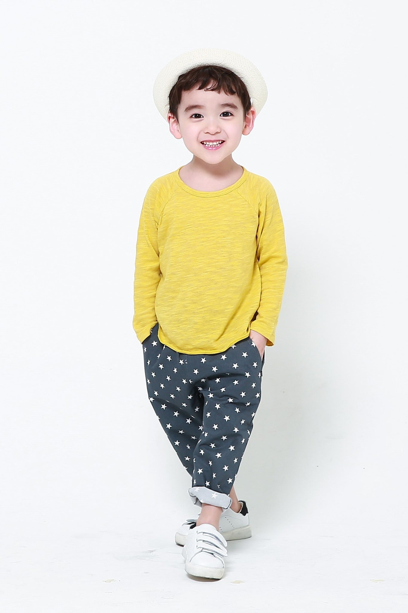 Trousers - Cotton Star Trousers Blue