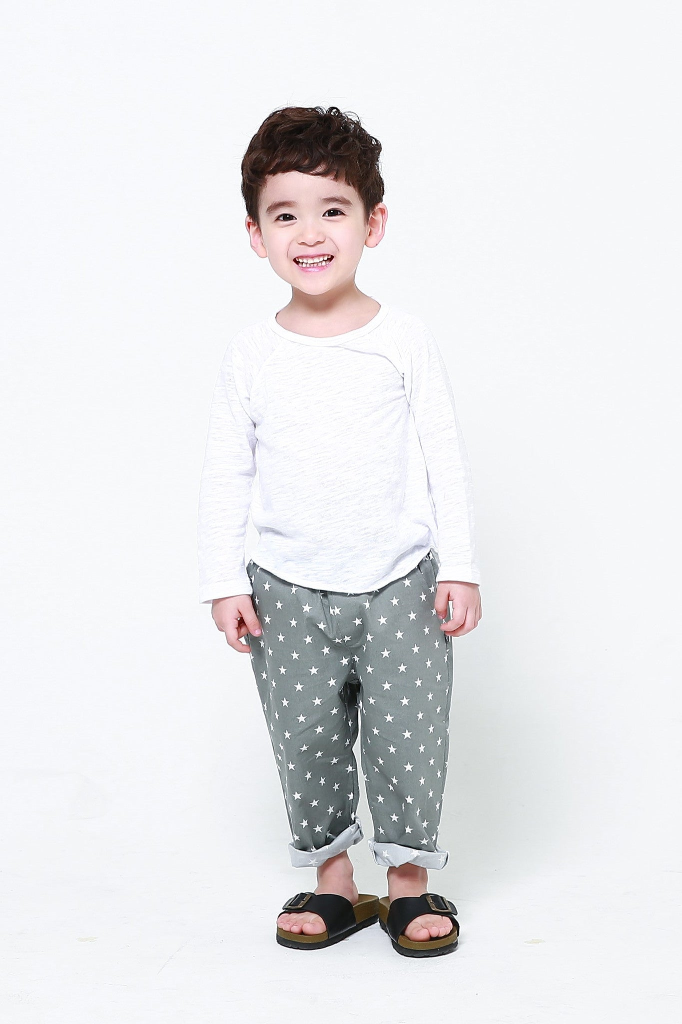 Trousers - Cotton Star Trousers Grey