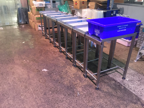 Mr Chop Stainless Steel Scrap Bin Table