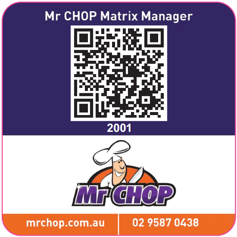 Mr Chop Equipment Matrix Manager QR Code