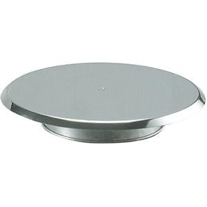 Cake Stand-300X50mm Revolving Stainless Steel