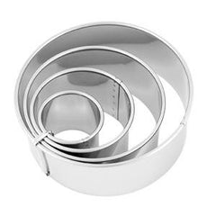 Cutter Set-Plain-Stainless Steel 4Pc 38-110mm
