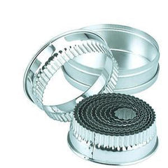 Cutter Set-Small Round Crinkled 11Pc Size: 25-95mm