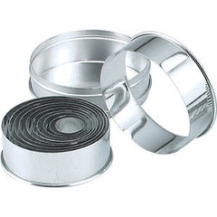 Cutter Set- Round Stainless Steel Plain