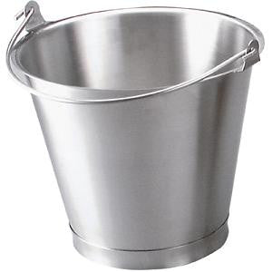 Bucket-Stainless Steel 13.0Lt W/Base