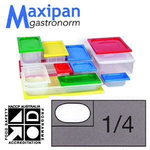 Lid-Polyprop Gastronorm 1/4 Blue
