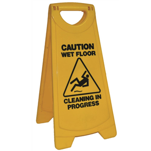 EDCO Standard Warning Sign- Caution Wet Floor