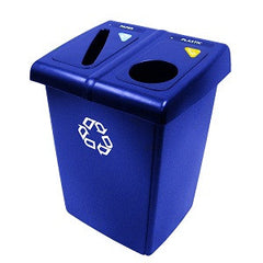 Rubbermaid 256T-73 Glutton Recycling Station - 2 Stream