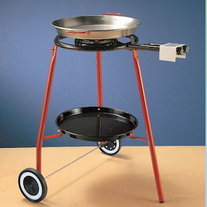 Paella Burner 2 Ring Kit on Wheels - Includes Regulator