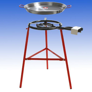 Paella Burner 2 Ring Kit - Includes Regulator