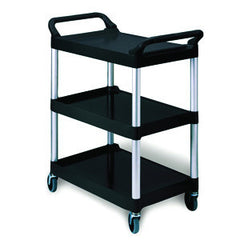 Rubbermaid 3424-88 Utility/Service Cart - Platinum