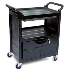 Rubbermaid 3457 Utility/Service Cart With Lockable Doors