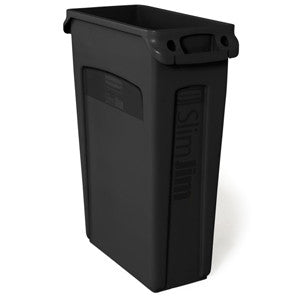 Rubbermaid 3540-60 Bla Slim Jim 87Lt