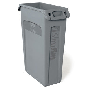 Rubbermaid 3540-60 Gray Slim Jim 87Lt