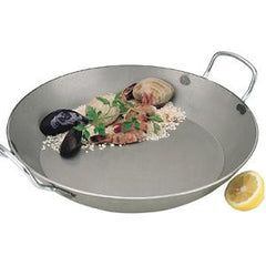 Paella Pan-1.5mm Black Steel 500mm 2 Hdl