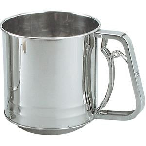 Flour Sifter-Stainless Steel 3-Cup Squeeze Hdl