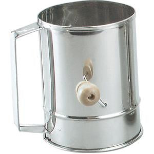 Flour Sifter-Stainless Steel 5-Cup Crank Hdl